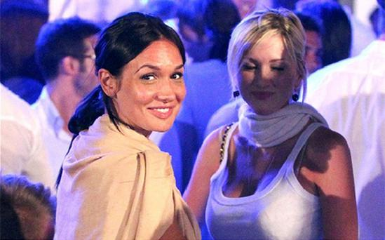 Nicole Minetti, left, a half-British former showgirl at the heart of the affair, joked that Berlusconi had 'taken up his gymnastic activities again'