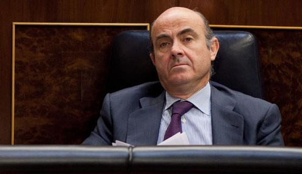 Spanish Minister of Economy and Competitiveness Luis de Guindos. Photo: Getty Images