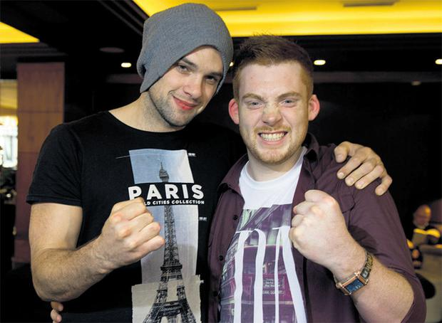 Bressie (left) mentor to Pat Byrne, pictured after winning the 'Voice of Ireland' contest