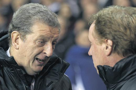 Harry Redknapp, right, looks set to be overlooked as England manager in favour of West Brom boss Roy Hodgson