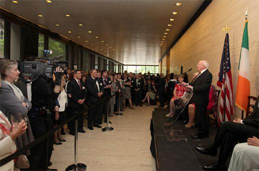 The President of Ireland, Michael D. Higgins and Sabina Higgins visit to New York and Boston, United States of America.