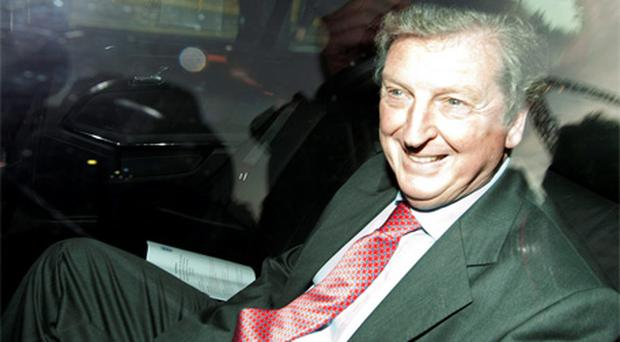 Roy Hodgson was driven from Wembley Stadium after holding talks with the FA