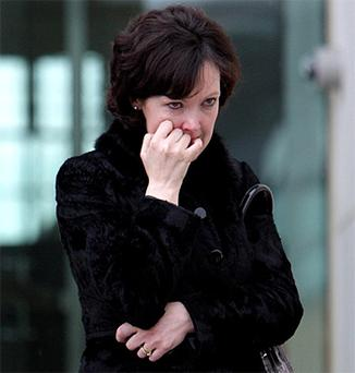 Annette Daire leaving court yesterday after she was given a four-year suspended sentence