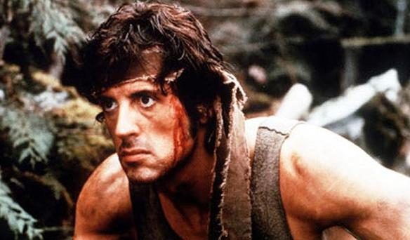 Sylvester Stallone in the iconic role of John Rambo in 'First Blood' (1982)