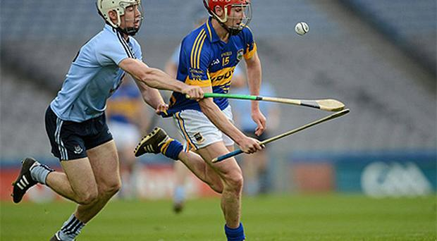 Paul Schutte in action for Dublin against Tipperary