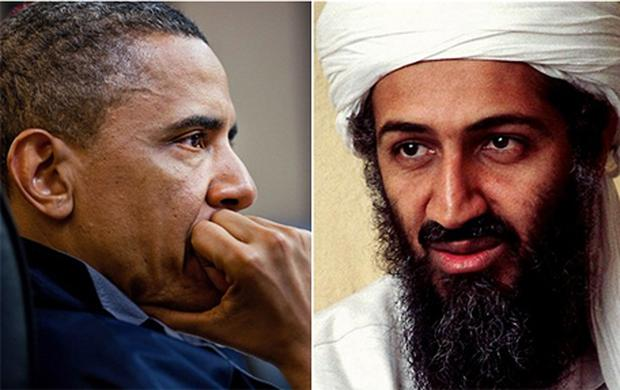 US President Barack Obama (left) and Osama bin Laden. Photo: Getty Images