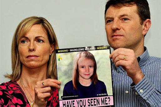 Gerry and Kate McCann, whose daughter Madeline disappeared from a holiday flat in Portugal five years ago. Photo: Press Association
