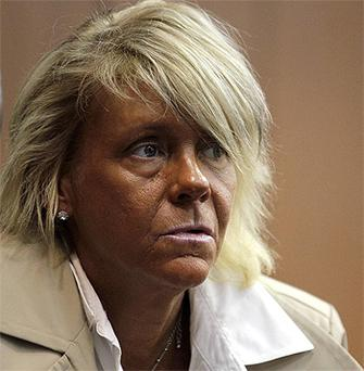 Patricia Krentcil waits to be arraigned at the Essex County Superior Court in New Jersey
