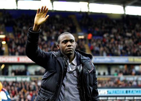 <b>Wednesday</b><br/> Fabrice Muamba makes an emotional return to the Reebok Satadium for the first time since suffering a heart attack at White Hart Lane on March 17 - 46 days ago.