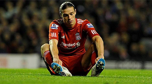 Liverpool's record signing Andy Carroll