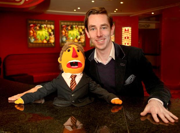 ìA major personal ambition was achieved this week when I officially became a Muppet. I was brought up on these guys and to become a member of such an exclusive club is an honour! Let the caption competitions beginÖî Ryan Tubridy . Photo: Anthony Woods.