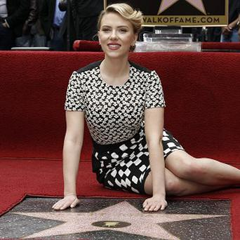 Scarlett Johansson said the Walk Of Fame star was a touching gift