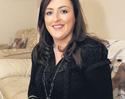 Laura Hughes at her home yesterday in Athenry, Co Galway.