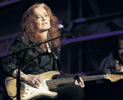 HELPING HAND: Bonnie Raitt sings 'God Only Knows' on new charity CD that will come with next week's 'Sunday Independent', which is helping Irish star Frances Black's RISE Foundation