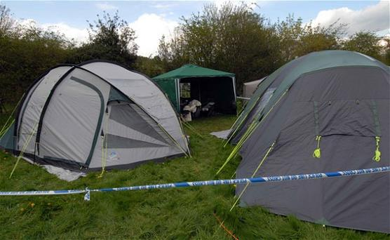 The camp site in the Shropshire village of Bucknell where a teenage girl has died from suspected carbon monoxide poisoning