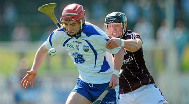 Pauric Mahony , Waterford, in action against Damien Joyce, Galway. Photo: Sportsfile