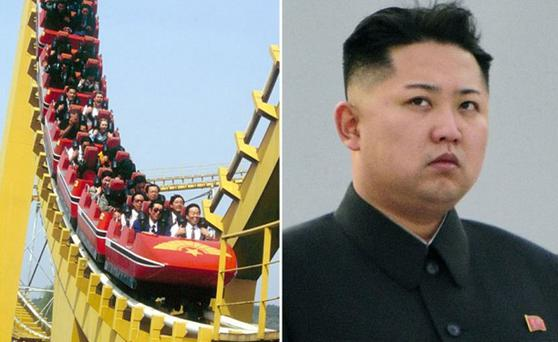 The amusement park in Pyongyang's and North Korea's leader Kim Jong-un