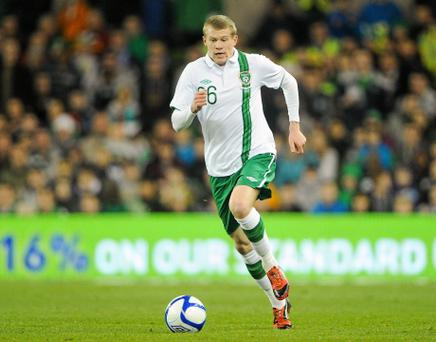 29 February 2012; James McClean, Republic of Ireland. International Friendly, Republic of Ireland v Czech Republic, Aviva Stadium, Lansdowne Road, Dublin. Picture credit: Brendan Moran / SPORTSFILE