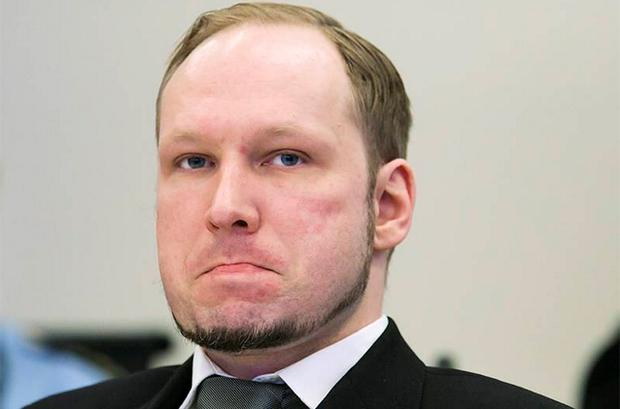 Anders Behring Breivik in the court during his trial. Photo: Reuters