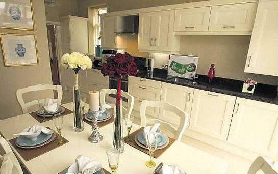 The kitchen in a three-bed house in Killeen Castle, Dunshaughlin.