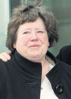 Betty Barry outside Dublin Circuit Criminal Court yesterday.