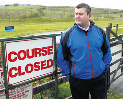 Club professional Raymie Byrne outside The South County Golf Club yesterday.