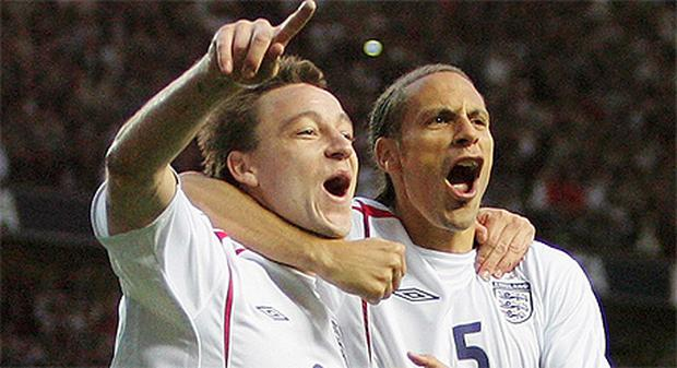 A scene that is unlikely to be repeated this summer if both John Terry and Rio Ferdinand are selected for the England Euro 2012 squad