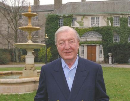 Charlie Haughey at his home Abbeville