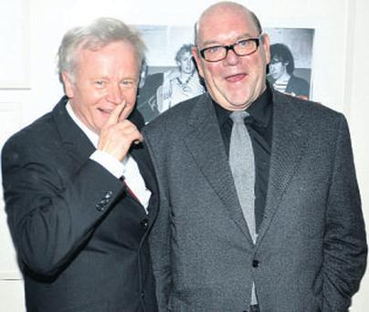 Paul McGuinness with photographer Patrick Brocklebank