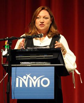 10-05-12: Business woman and former nurse Norah Casey speaking at the Irish Nurses and Midwives Organisation (INMO) Annual Delegate Conference at the Killarney Convention Centre on Thursday. Picture: Eamonn Keogh (MacMonagle, Killarney)