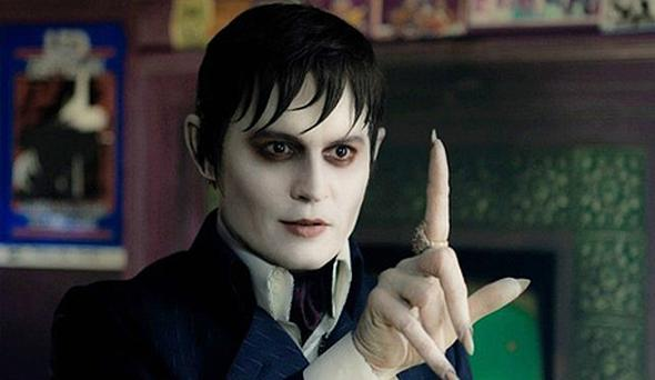 Johnny Depp starring in Tim Burton's Dark Shadows
