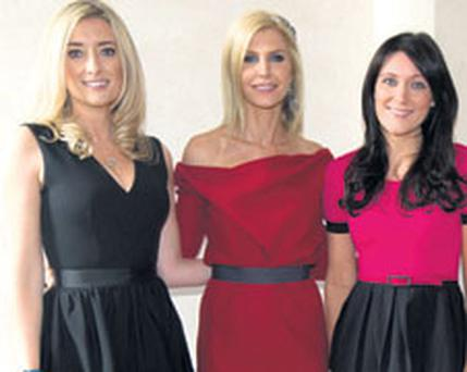 Attending the annual CARI summer lunch and fashion show at the Shelbourne Hotel were (from left) Jane Given, wife of Ireland International Shay Given, Yvonne Keating and Georgina Byrne.