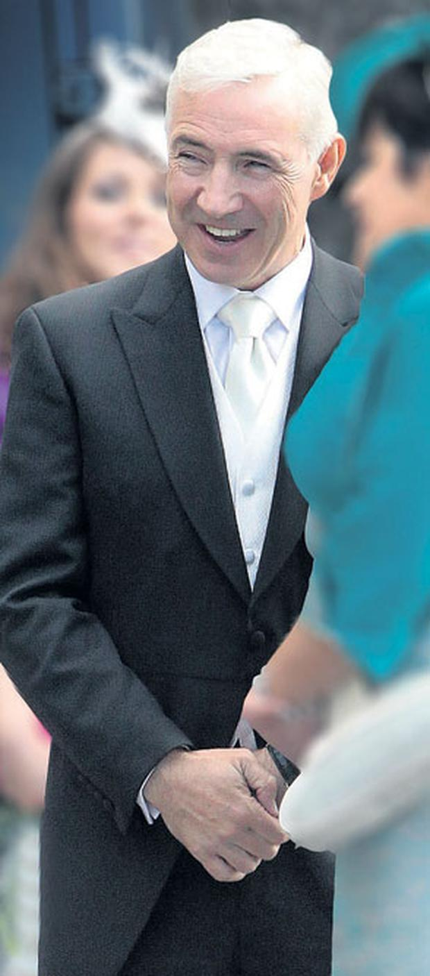 FATHER OF THE GROOM: Sean Dunne beams on son Stephen's wedding day