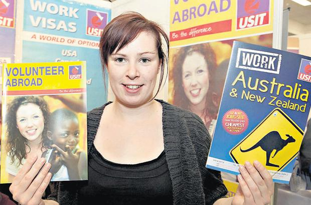 Childcare worker Niamh Gregory at Jobs Expo 2012 in Dublin yesterday