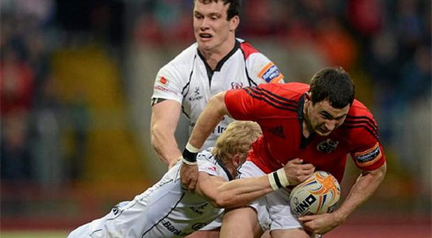 Felix Jones: Major doubt for Ireland's tour to New Zealand following shoulder injury. Photo: Getty Images