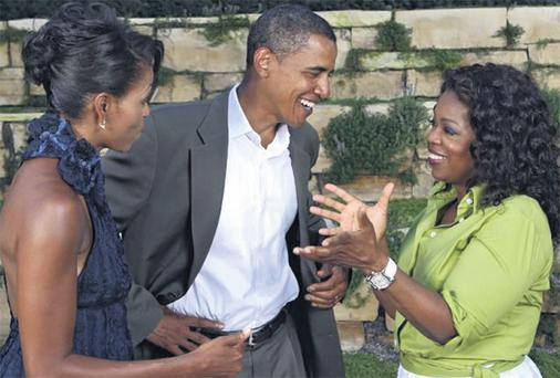Oprah Winfrey (right) with US President Barack Obama and his wife Michelle
