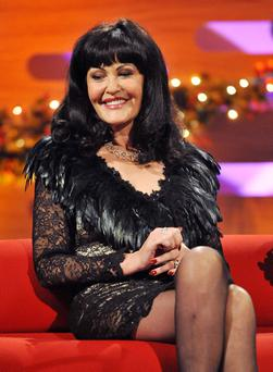 File photo dated 22/12/11 of Dragons' Den star Hilary Devey who has revealed she was raped at the age of 12 but kept the attack secret for 43 years. The multi-millionaire said she she was sexually abused as a youngster by a man near her parents' pub in Accrington, Lancashire. PRESS ASSOCIATION Photo. Issue date: Sunday May 13, 2012. Mrs Devey, 55, has spoken of the ordeal for the first time in her autobiography, which is being serialised in The Sun this week. She recounts how an older girl called Sandra led her to an Italian man, who attacked her and threatened to come after her if she told her parents. See PA story SHOWBIZ Devey. Photo credit should read: Nick Ansell/PA Wire