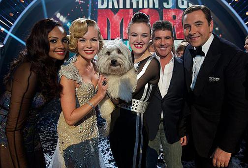 Ashleigh, Pudsey and the judges of BGT