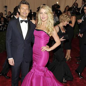 Ryan Seacrest with Julianne Hough who have called off their three year relationship.