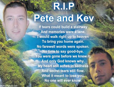 Online tribute to tragic twins Peter and Kevin Moran
