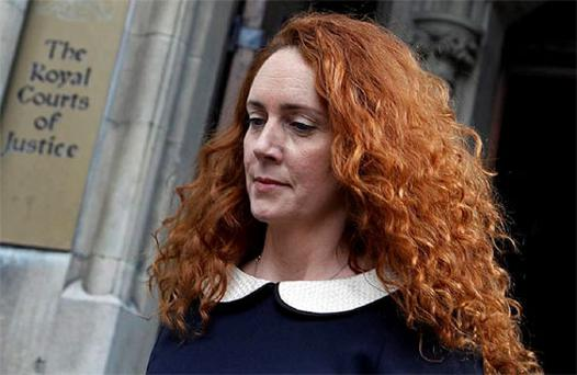 Former News International chief executive Rebekah Brooks leaves after giving evidence to the Leveson Inquiry into the ethics and practices of the media at the High Court in central London. Photo: Reuters