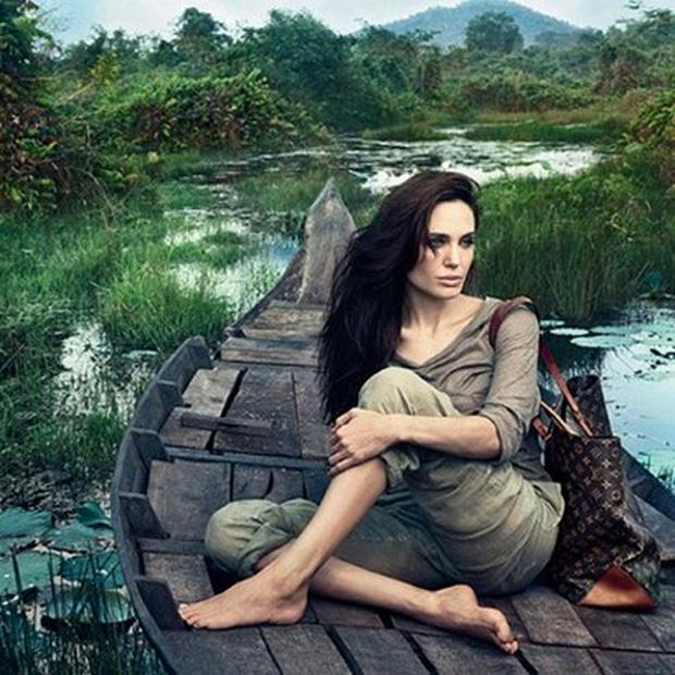 Angelina Jolie in the Louis Vuitton's Core Values campaign. Photo: Louis Vuitton/Annie Leibovitz