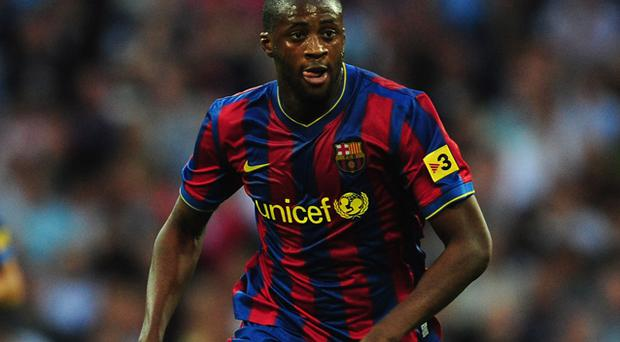 Yaya Toure during his succesful time at the Nou Camp. Photo: Getty Images