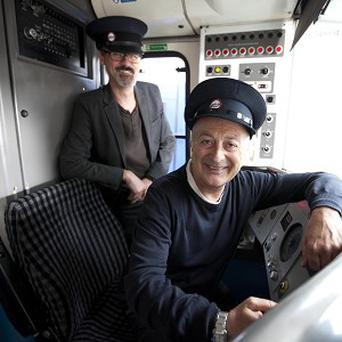 Richard Preddy, left, and Tony Robinson have created a series of witty one-liners are to replace the standard Chiltern Railways announcements