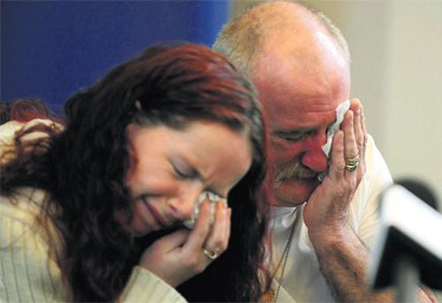Mick Philpott and his wife Mairead repeatedly broke down in tears as he spoke for the first time yesterday about the death of six of his children last Friday.