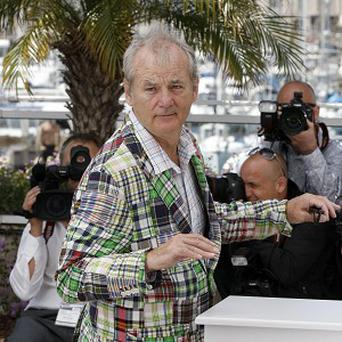 Bill Murray pulled funny faces and joked around on the Cannes red carpet