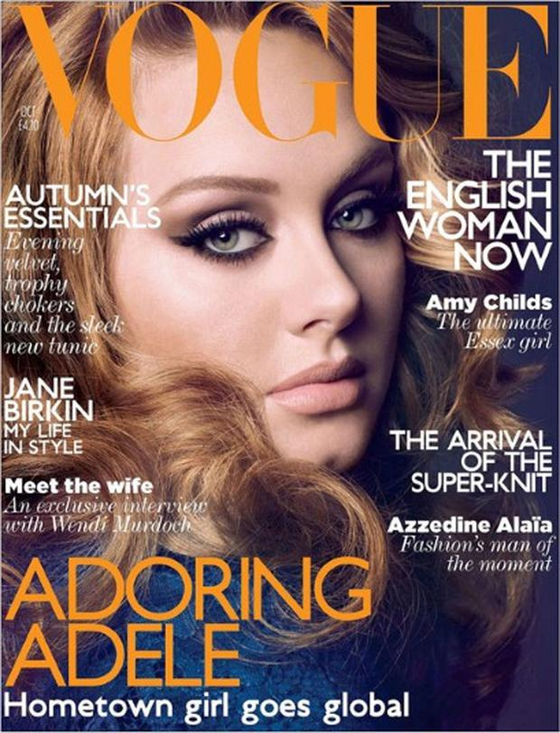 Adele on the cover of UK Vogue, October 2011 issue Photo: VOGUE