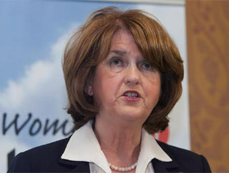 Minister for Social Protection & Labour Party Director of Elections Joan Burton TD provide women with five reasons why they should vote yes in the Stability Treaty Referendum on May 31st at The Shelbourne Hotel , Dublin.