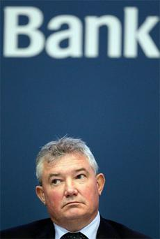Bank of Ireland' s Group Chief Executive Richie Boucher pictured during the Bank Of Ireland' s AGM at the O Reilly Hall in UCD. Photo: Frank Mc Grath