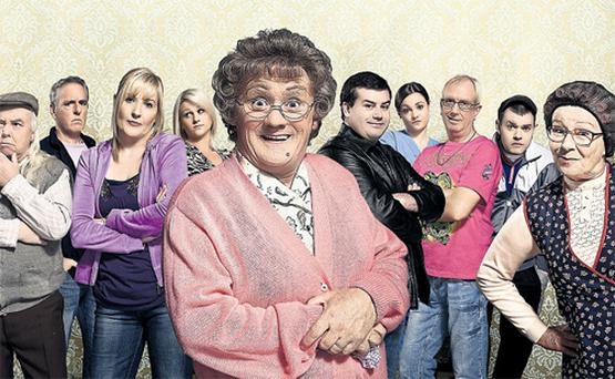 Sibling revelry: Eilish (right) in Mrs Brown's Boys